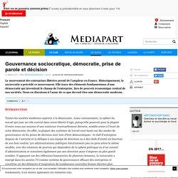 Gouvernance sociocratique, démocratie, prise de parole et décision