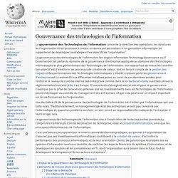 Gouvernance des technologies de l'information