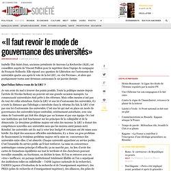 «Il faut revoir le mode de gouvernance des universités»