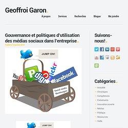 Gouvernance et politiques d'utilisation des médias sociaux dans