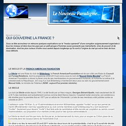 QUI GOUVERNE LA FRANCE ?