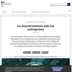 Le Gouvernement aide les entreprises