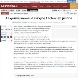 Le gouvernement assigne Leclerc en justice