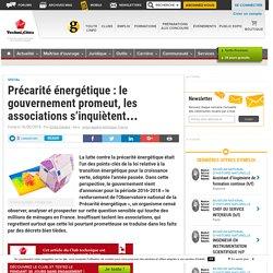 Précarité énergétique : le gouvernement promeut, les associations s'inquiètent... - Club Techni.Cités