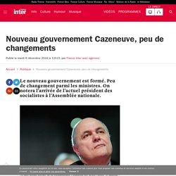 Nouveau gouvernement Cazeneuve, peu de changements