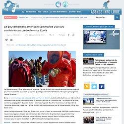 Le gouvernement américain commande 160 000 combinaisons contre le virus Ebola