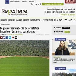 Le gouvernement et la déforestation importée: des mots, pas d'actes