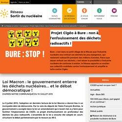 Loi Macron: le gouvernement enterre les déchets nucléaires... et le débat démocratique!