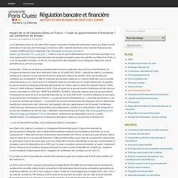 Impact de la loi Sarbanes-Oxley en France : l'essor du gouvernement d'entreprise ? par Clémentine de Brosses
