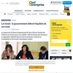 Loi El Khomri: le gouvernement défend l'équilibre de son texte devant le Conseil des ministres