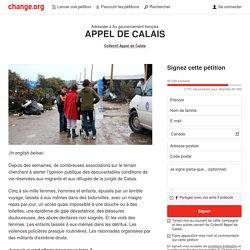 Au gouvernement français: APPEL DE CALAIS