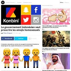 Le gouvernement indonésien veut proscrire les emojis homosexuels