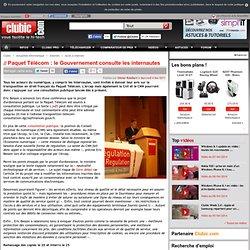 Paquet Télécom : le Gouvernement consulte les internautes