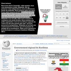 Gouvernement régional du Kurdistan