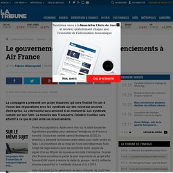 Le gouvernement ne veut pas de licenciements à Air France