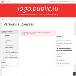 Versions autorisées - Site officiel du logotype du gouvernement luxembourgeois