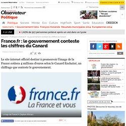 France.fr : le gouvernement conteste les chiffres du Canard - Politique