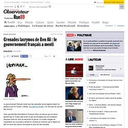 Grenades lacrymos de Ben Ali : le gouvernement français a menti