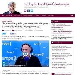 Frère Chevènement Le Breton Oui, le Corse Non !