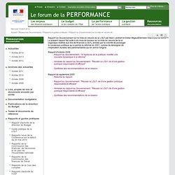 Rapport au Gouvernement sur la mise en oeuvre de la LOLF par Alain Lambert et Didier Migaud