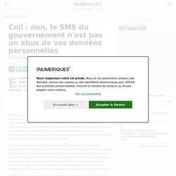 Cnil : non, le SMS du gouvernement n'est pas un abus de vos données personnelles