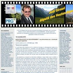Joël GIRAUD: QUESTION ECRITE AU GOUVERNEMENT : les phénomènes de « chemtrails » et la géo-ingéniérie