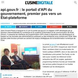 api.gouv.fr : le portail d'API du gouvernement, premier pas vers un Etat-plateforme