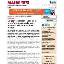 Le gouvernement lance une plateforme nationale pour recenser les producteurs locaux