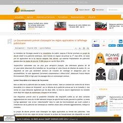 Le Gouvernement prévoit d'assouplir les règles applicables à l'affichage publicitaire