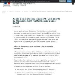 Accès des jeunes au logement : une priorité du Gouvernement réaffirmée par Cécile Duflot - Ministère du Logement et de l'Habitat durable