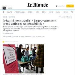 Précarité menstruelle: «Le gouvernement prend enfin ses responsabilités»