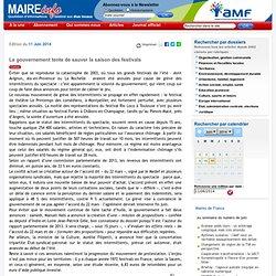 Le gouvernement tente de sauver la saison des festivals- Maire-info / AMF