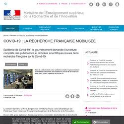 Le gouvernement demande l'ouverture complète des publications et données scientifiques issues de la recherche française sur le Covid-19 - Ministère de l'Enseignement supérieur, de la Recherche et de l'Innovation