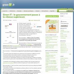 Green IT : le gouvernement passe à la vitesse supérieure