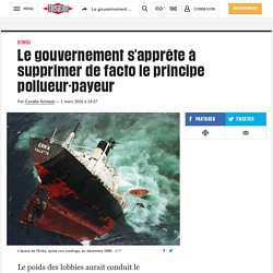 Le gouvernement s'apprête à supprimer de facto le principe pollueur-payeur