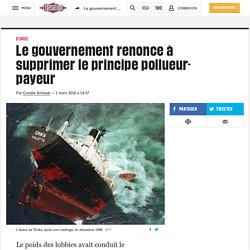 Le gouvernement renonce à supprimer le principe pollueur-payeur
