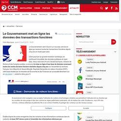 Le Gouvernement met en ligne les données des transactions foncières