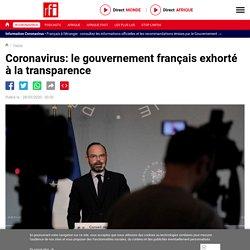 Coronavirus: le gouvernement français exhorté à la transparence