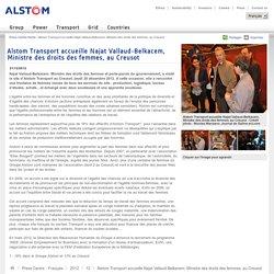 Najat Vallaud-Belkacem, Ministre des droits des femmes et porte-parole du gouvernement, a visité le site d'Alstom Transport au Creusot, jeudi 20 décembre 2012.