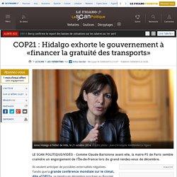 COP21 : Hidalgo exhorte le gouvernement à «financer la gratuité des transports»