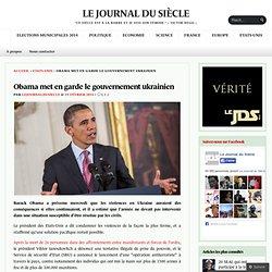 Obama met en garde le gouvernement ukrainien