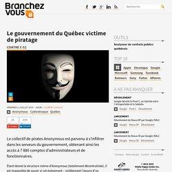 Le gouvernement du Québec victime de piratage