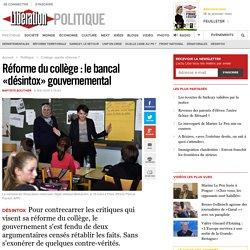 Réforme du collège : lebancal «désintox» gouvernemental