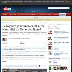 Le rapport gouvernemental sur la Neutralité du Net est en ligne !