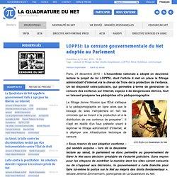 LOPPSI: La censure gouvernementale du Net adoptée au Parlement