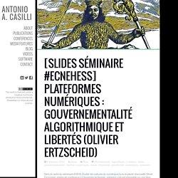Plateformes numériques : gouvernementalité algorithmique et libertés