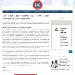 Les sites gouvernementaux sont aussi victimes de cyber attaques