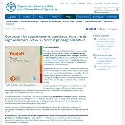 FAO - Que peuvent faire gouvernements, agriculteurs, industries de l'agro-alimentaire – et vous – contre le gaspillage alimentaire