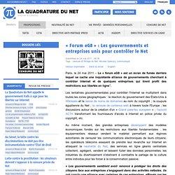 « Forum eG8» : Les gouvernements et entreprises unis pour contrôler le Net