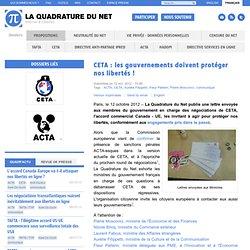CETA : les gouvernements doivent protéger nos libertés !